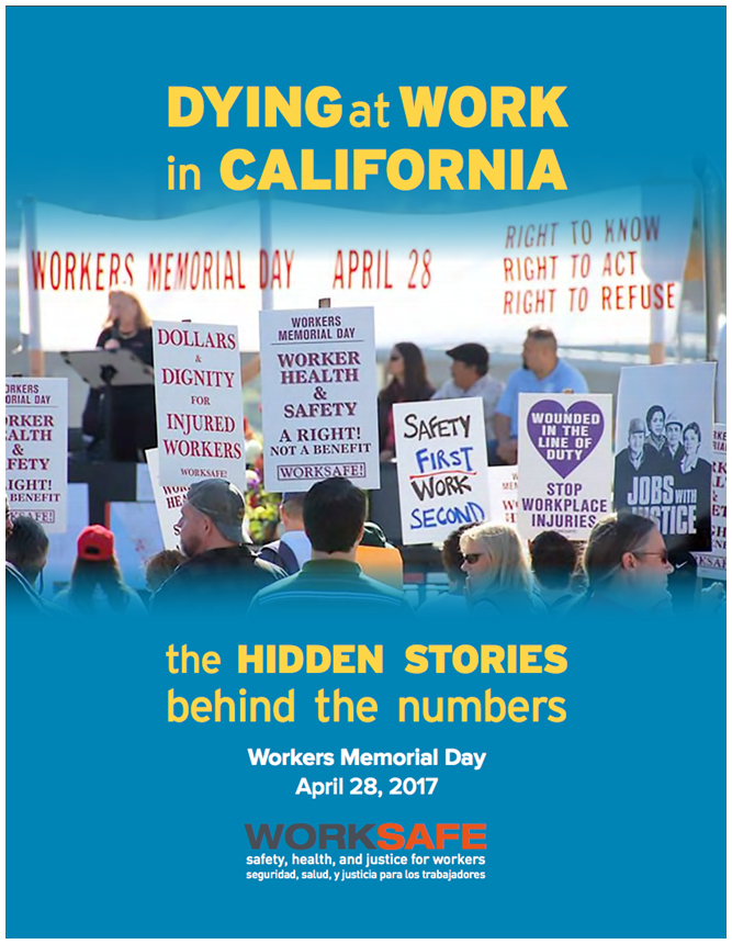 Worksafe Releases Report for Workers Memorial Day 2017
