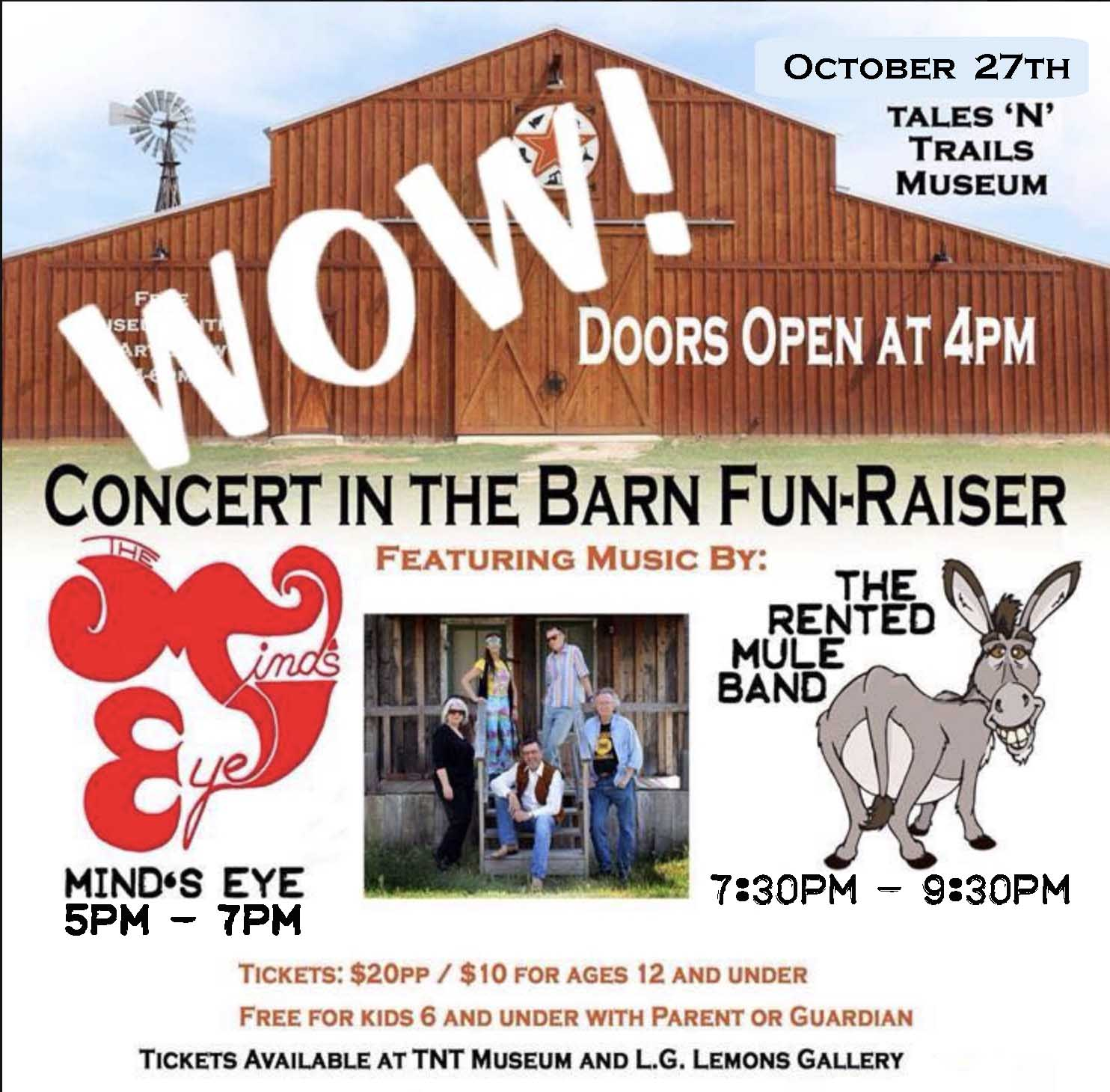 Concert in the Barn Fun-Raiser