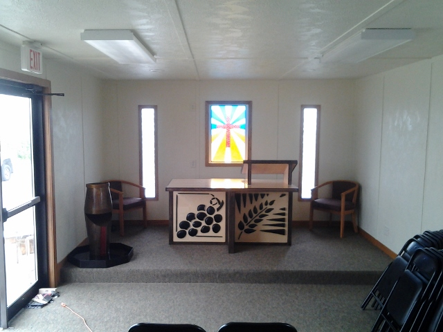 Finishing touches completed on mobile chapel