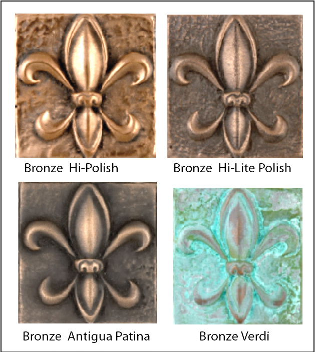M7003- Color & Surface Finish Variations of Bronze-Coated Plaques