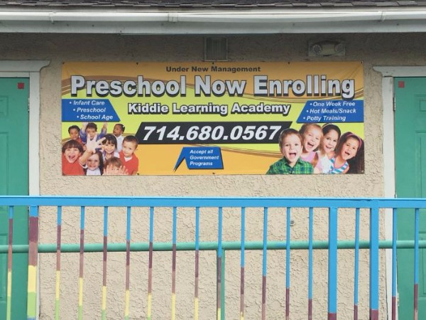 Banners for child care centers in Fullerton CA
