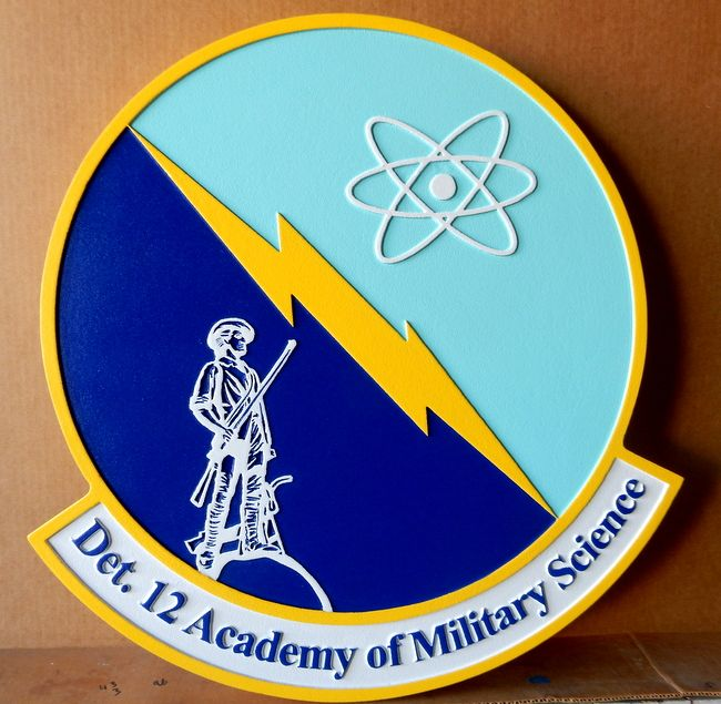 V31600 - Wall Plaque of the Crest for the Det 12. Academy of Military Sciences, US  Air Force
