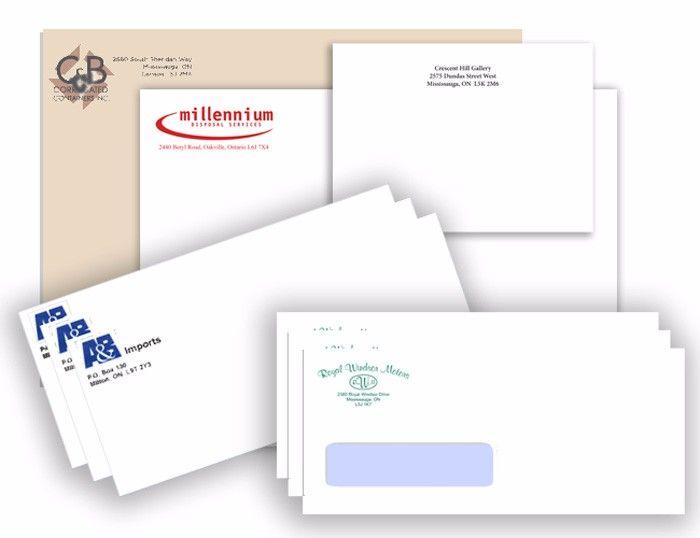 different sized envelopes