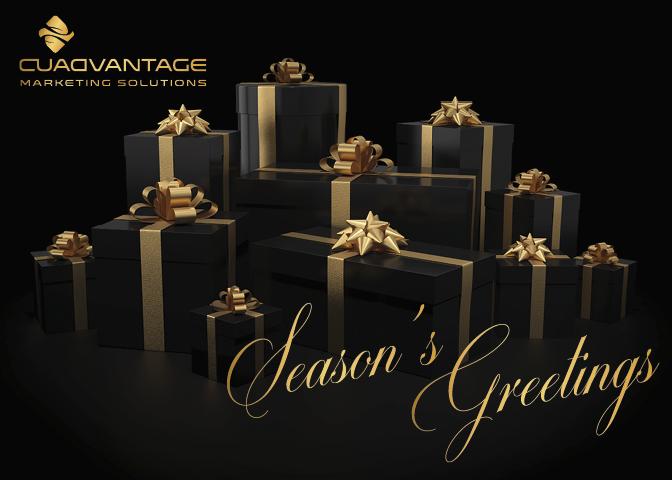 Holiday Card (black gold)