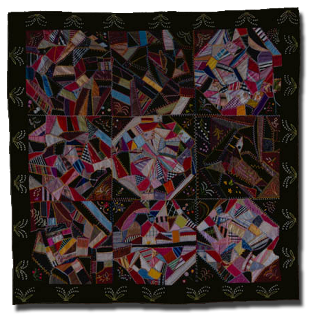 'Ernest's Quilt,' made by Alice M. Dorr, made in Creighton, Nebraska, United States, dated 1899, 79 x 76 in, NQP 4280