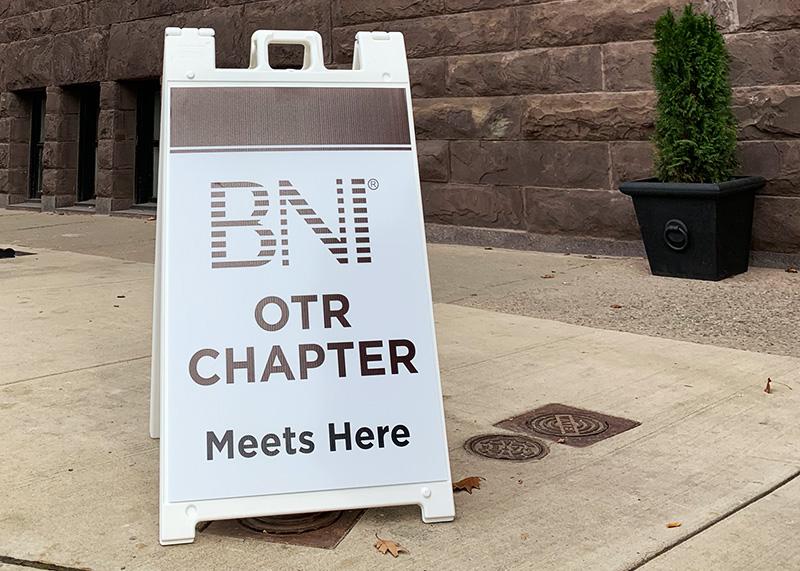 BNI OTR A-Frame Sign