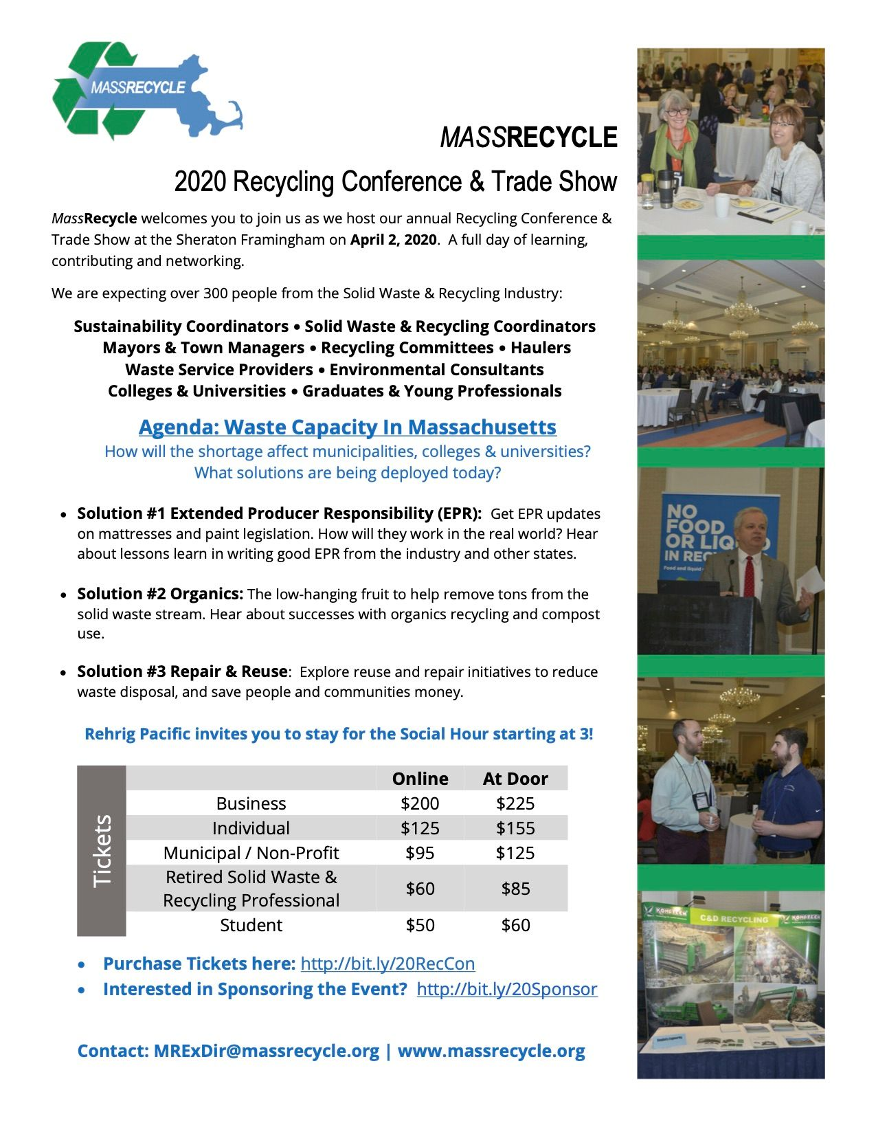 MassRecycle 2020 Recycling Conference & Trade Show