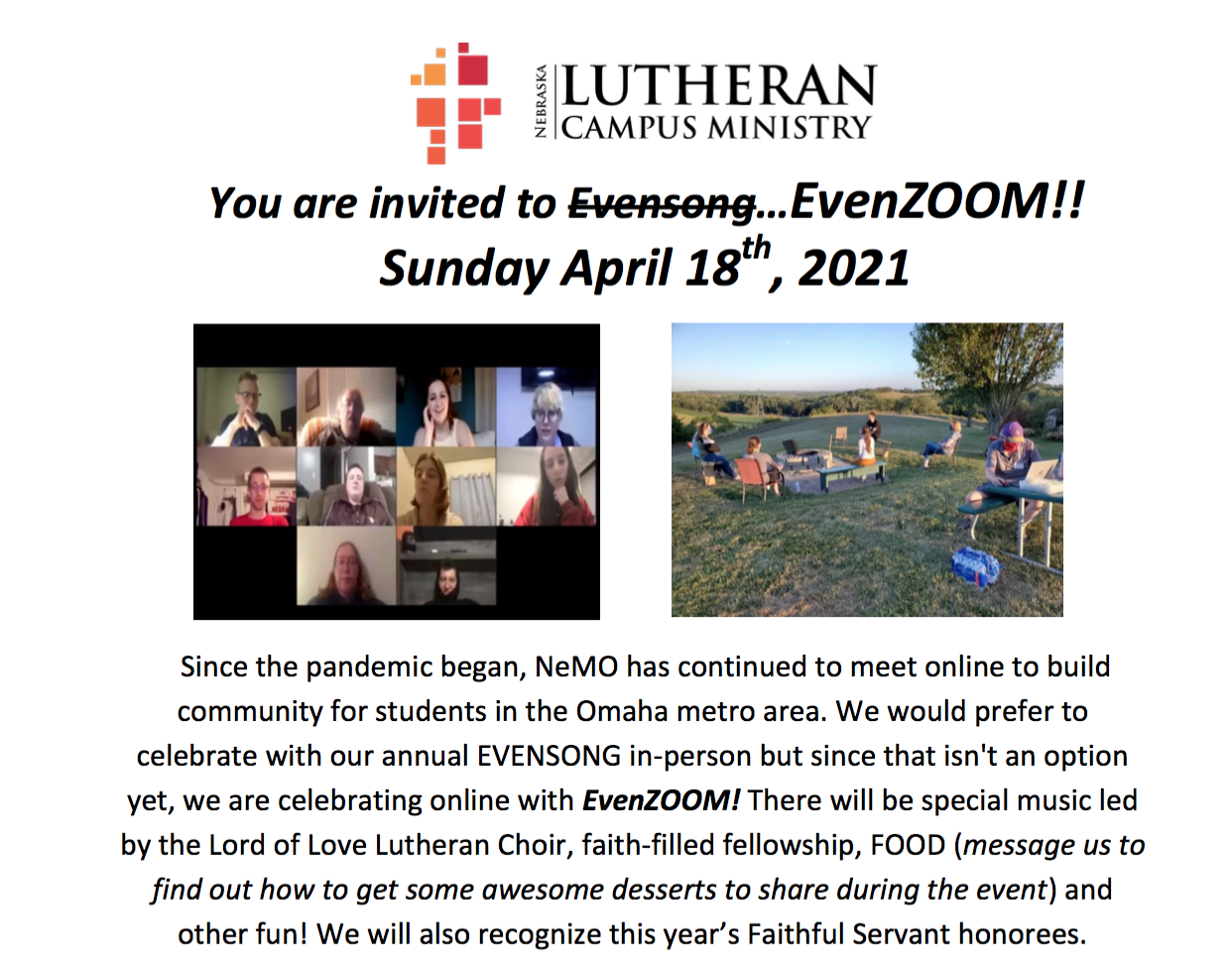 NE Lutheran Campus Ministry - Evenzoom