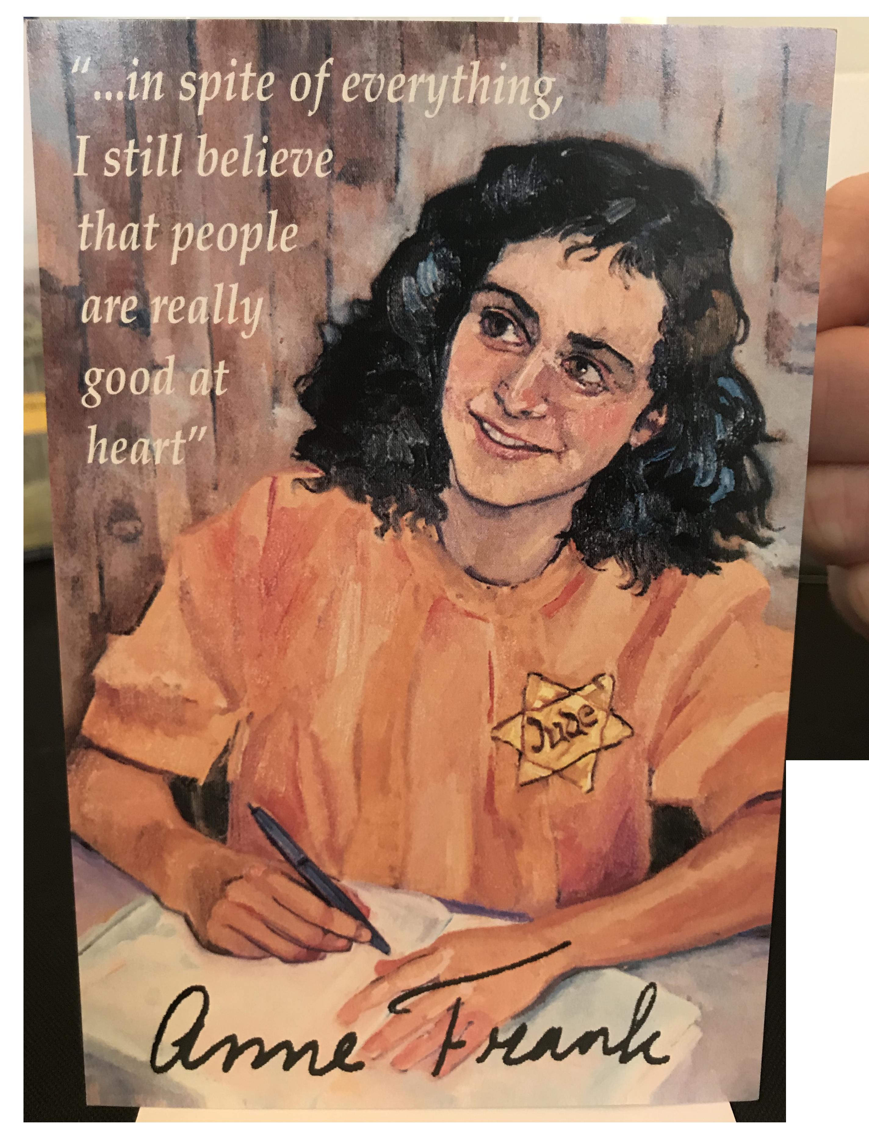 Anne Frank Postcard (USA Shipping)