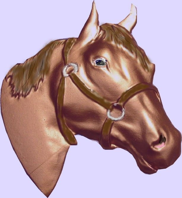 M2350 - Carved 3D Quarterhorse Head (Gallery 24)