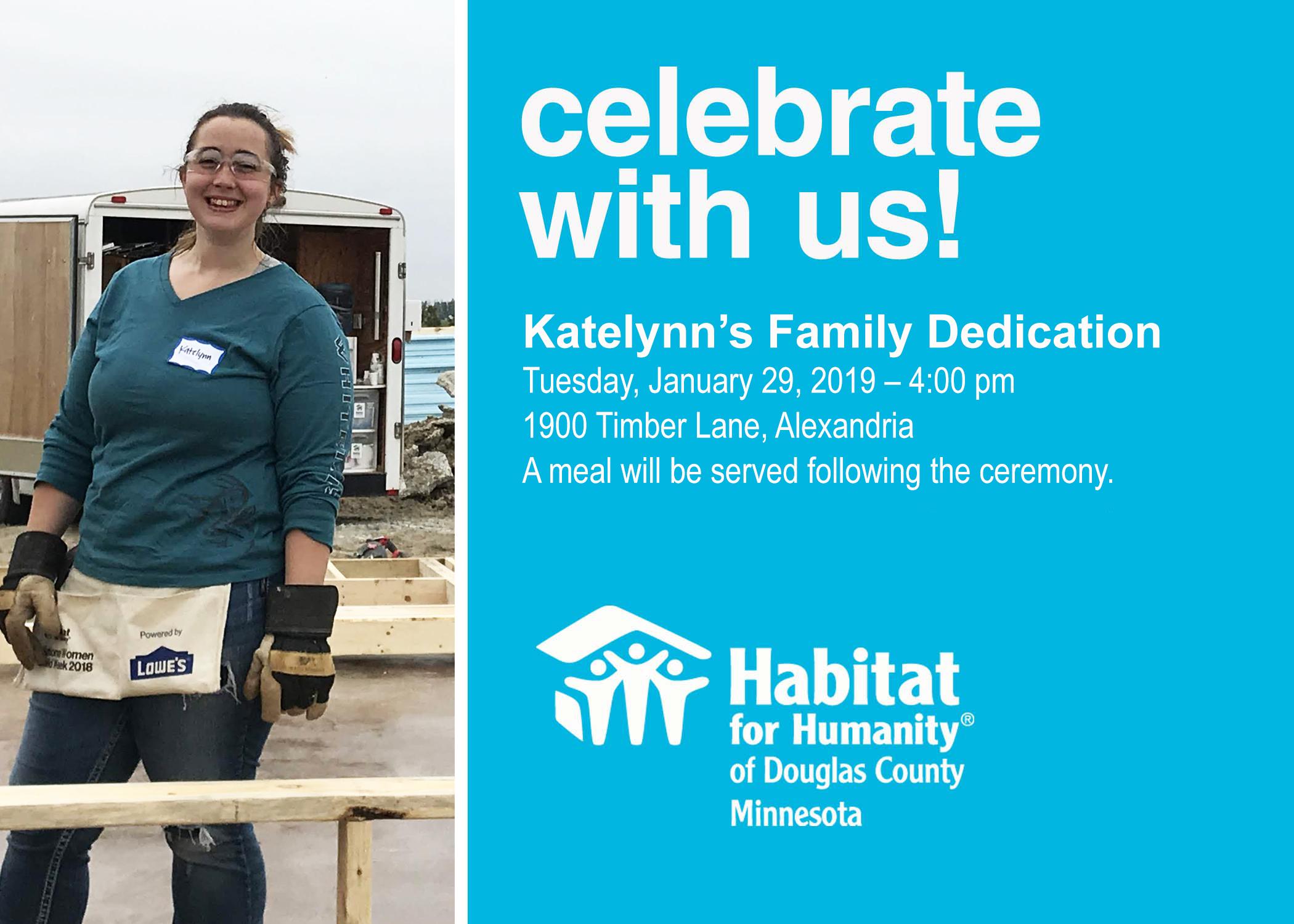 Join Us For Katelynn's Dedication Ceremony!