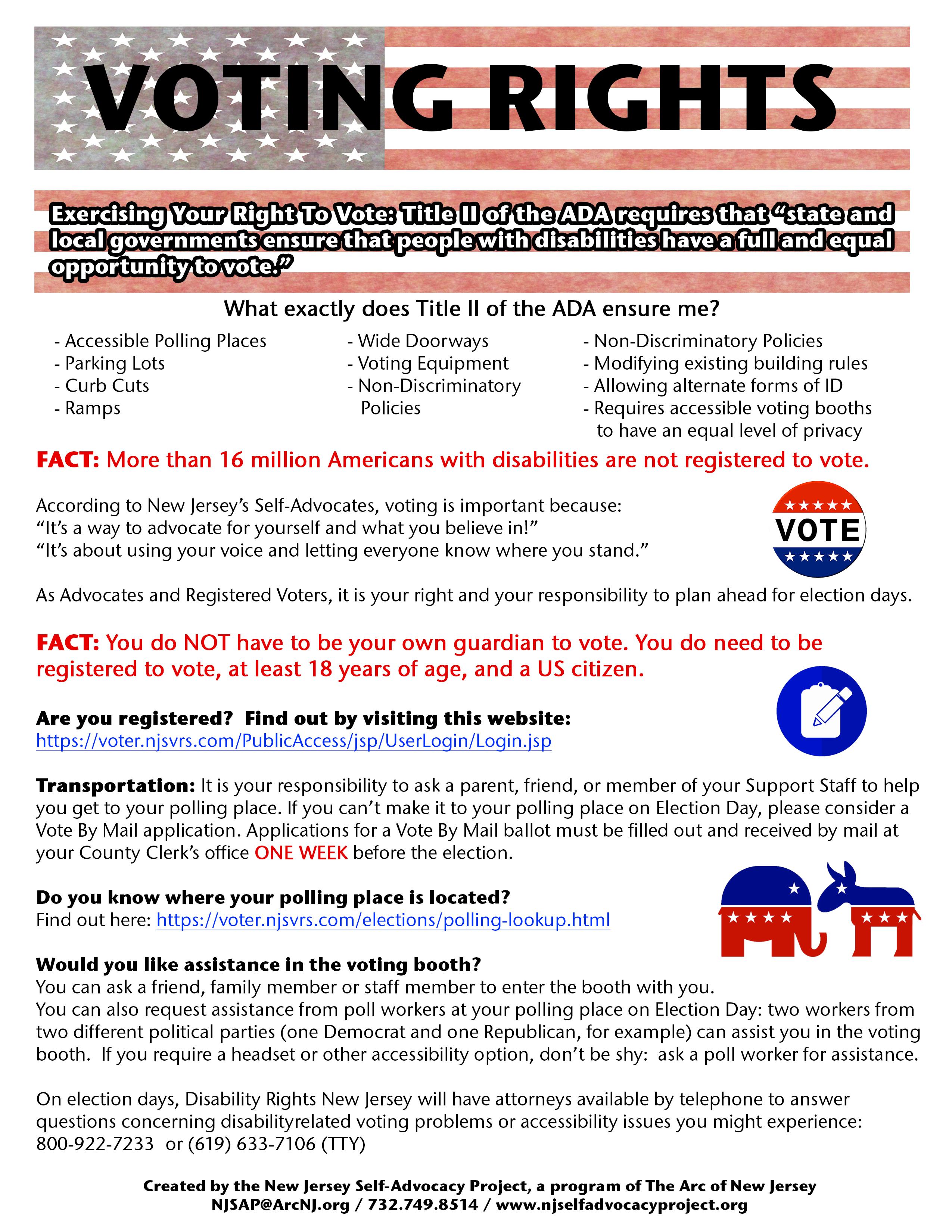 Voting Rights Factsheet