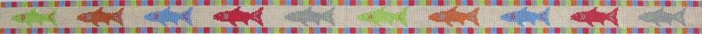 Rainbow Fish Dog Collar/Child's Belt - 18 Mesh