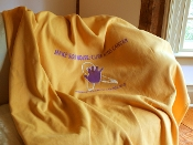 Gold Cure Kids Cancer Blanket
