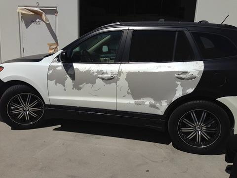 Satin black vehicle wraps Orange County