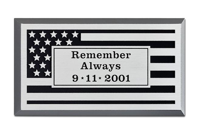 MH9010 - Precision Tooled Memorial Flag Plaque, 2.5-D