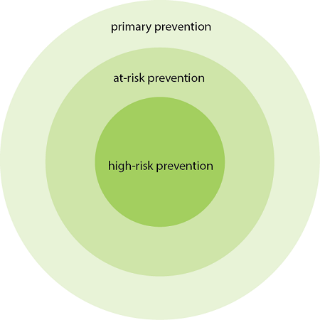 Three-level Community Prevention System graphic