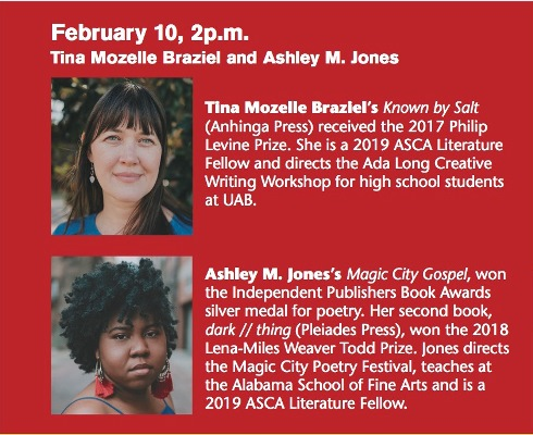 Writers to Readers at the Helen Keller Public Library featuring Tina Mozelle Braziel & Ashley M. Jones
