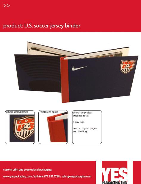 U.S. Soccer Jersey Binder