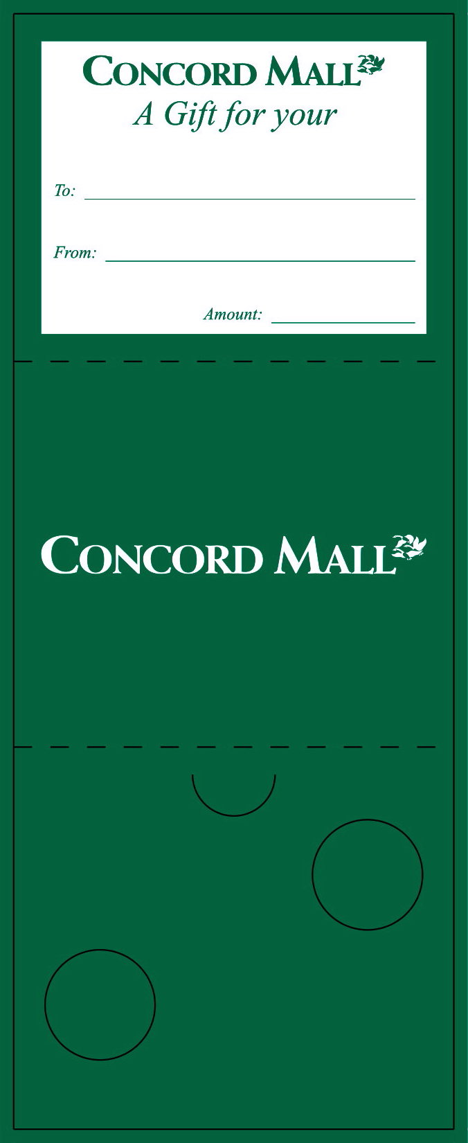 Concord Gift Card Carrier