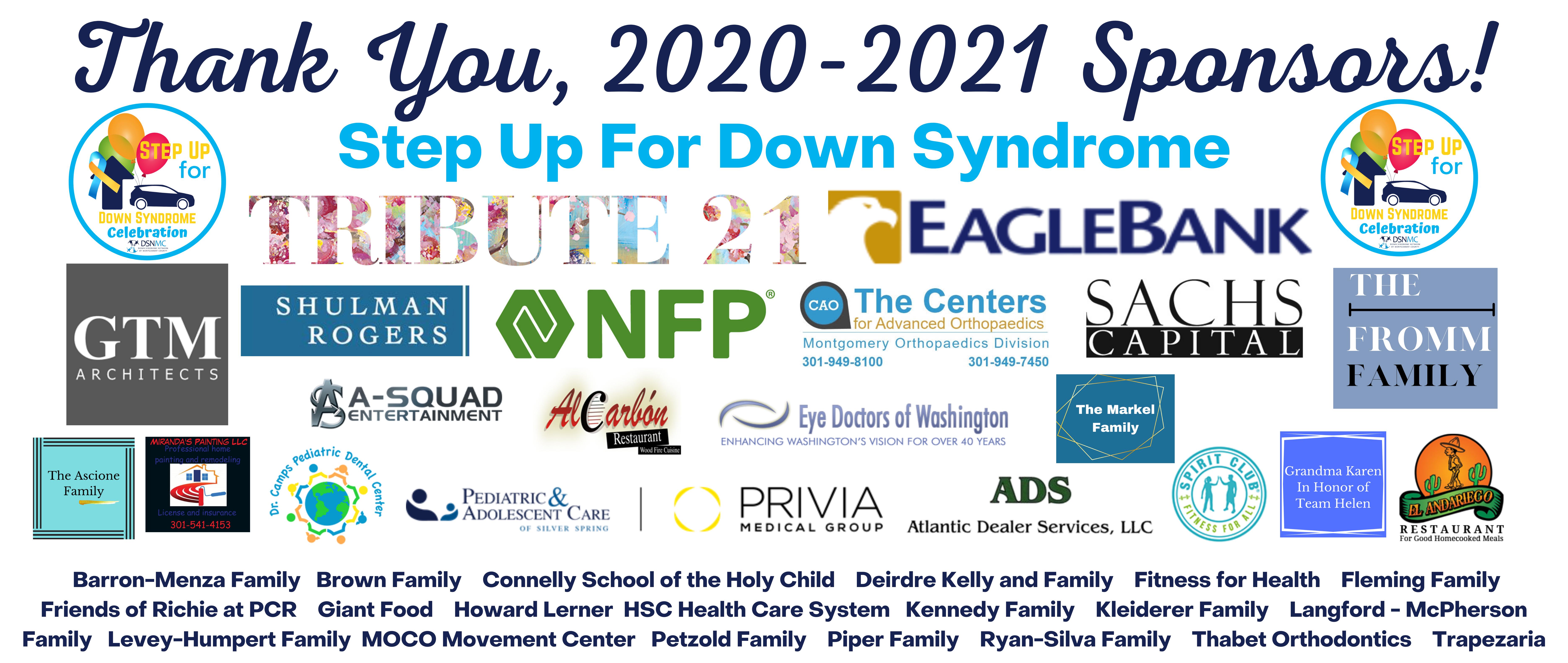 Thank You Sponsors 2020-2021