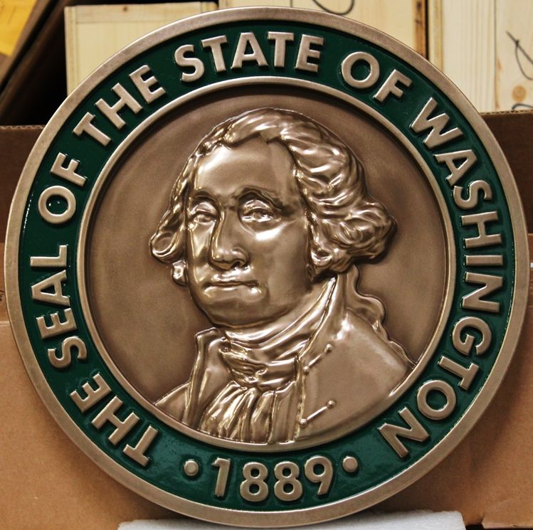 M7005 - 3-D Bronze-plated Plaqueof the Great Seal of the State of Washington