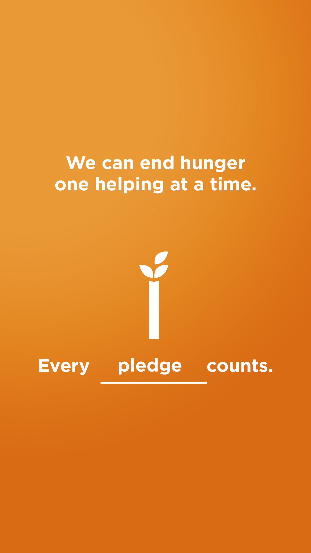 We can end hunger - Pledge