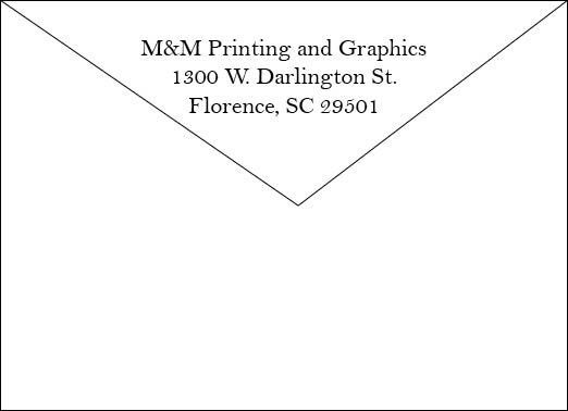 Invitation Envelope Back