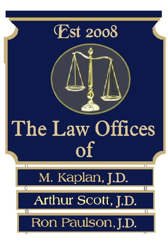 A10586 - Elegant Carved Wood Law Office Directory Sign