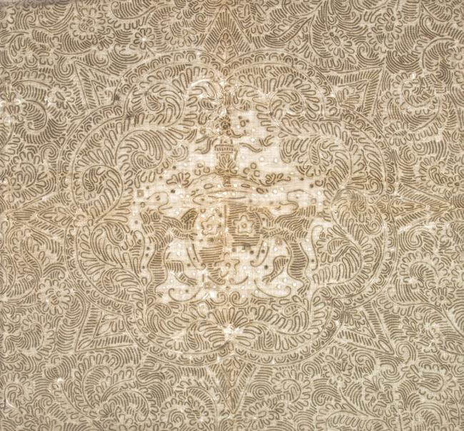 Couvre-Pied, IQSCM 2005.054.0001, Center Star Detail