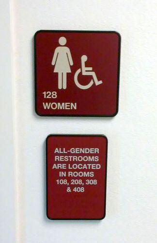 USCA Bathroom Signage