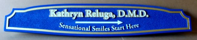 BA11622 - Sandblasted Wayfinding Wall Sign for Dental Office