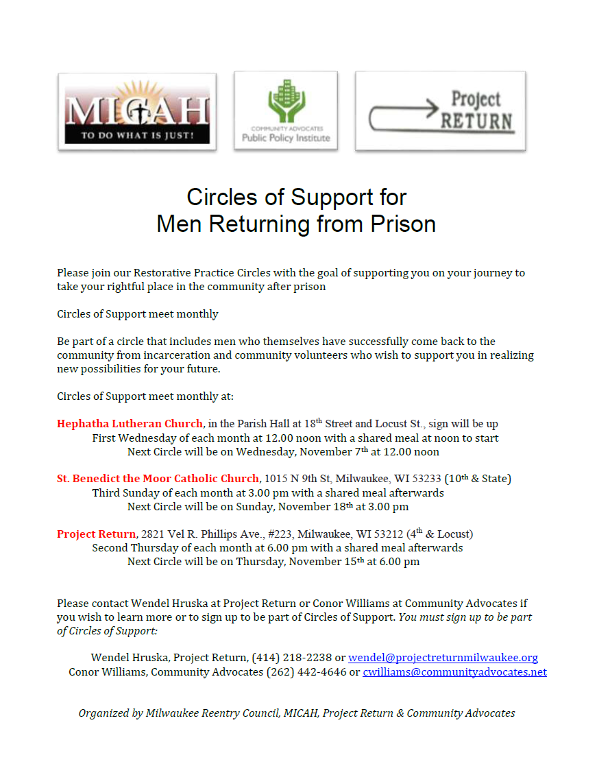 Circles of Support for Men Returning from Prison