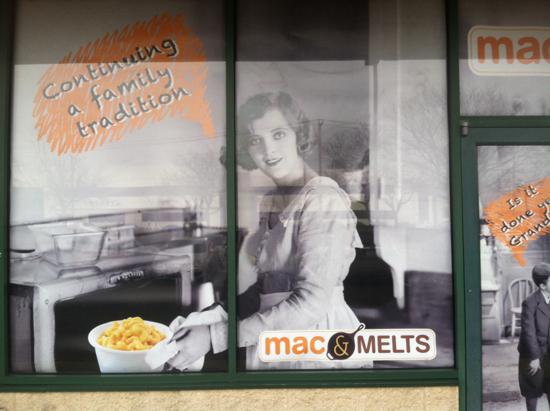Mac and Melts Window Grapics