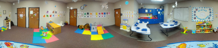 A picture of the Infant/Toddler Enrichment room at LSS Childcare & Education Services, Sioux Falls.