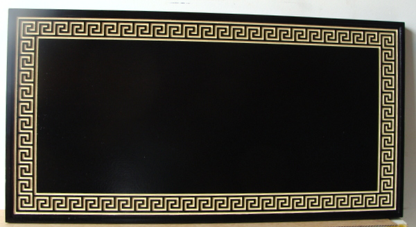 N23226 - Wall Plaque Blank with Carved Greek Key Border