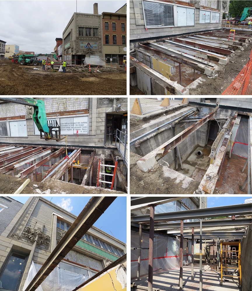 Sullivan Building Update: Basement Construction, August 5-10, 2016