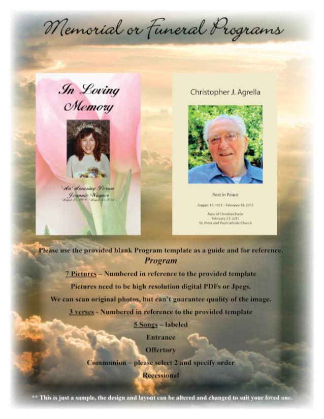 Funeral Or Memorial Program