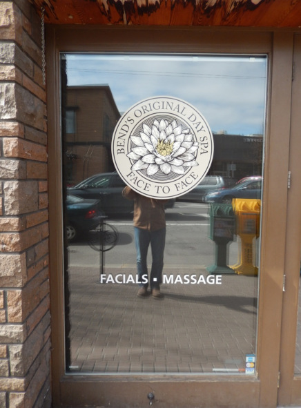 Window Graphics in Bend Oregon for Spas and Salons