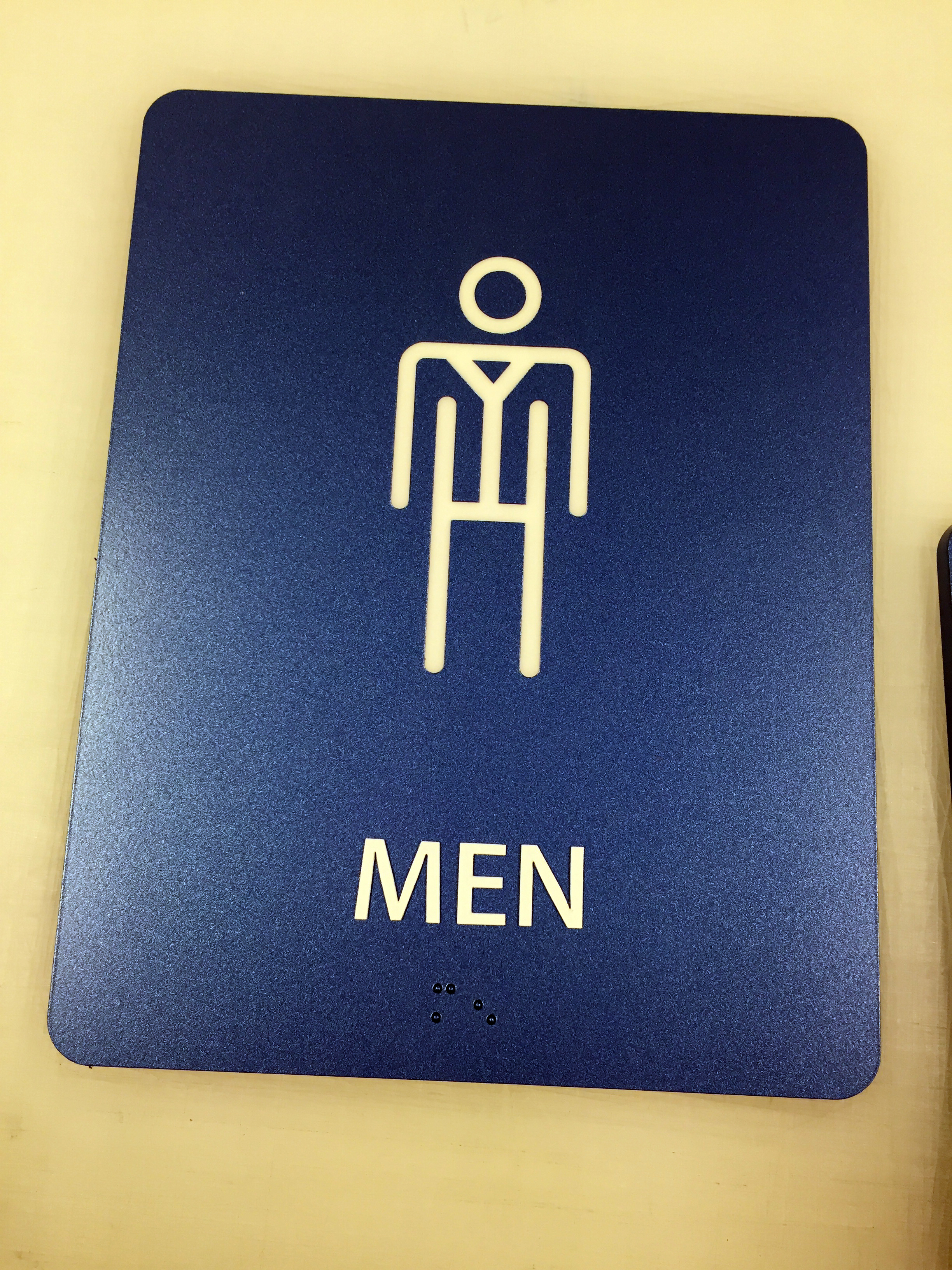 Men Restroom Sign- Limited Quantities
