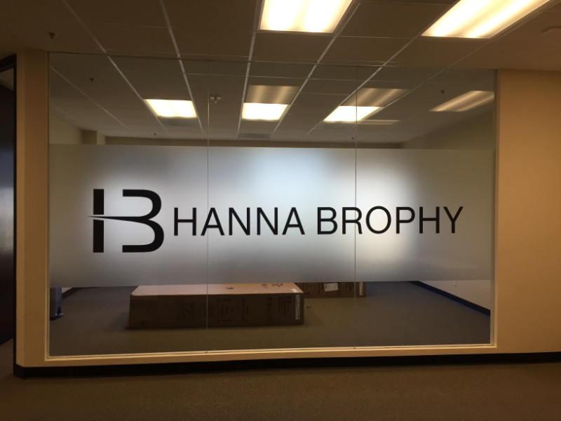 Office signs corporate signage office wall signage buena park ca - Glass office door signs ...