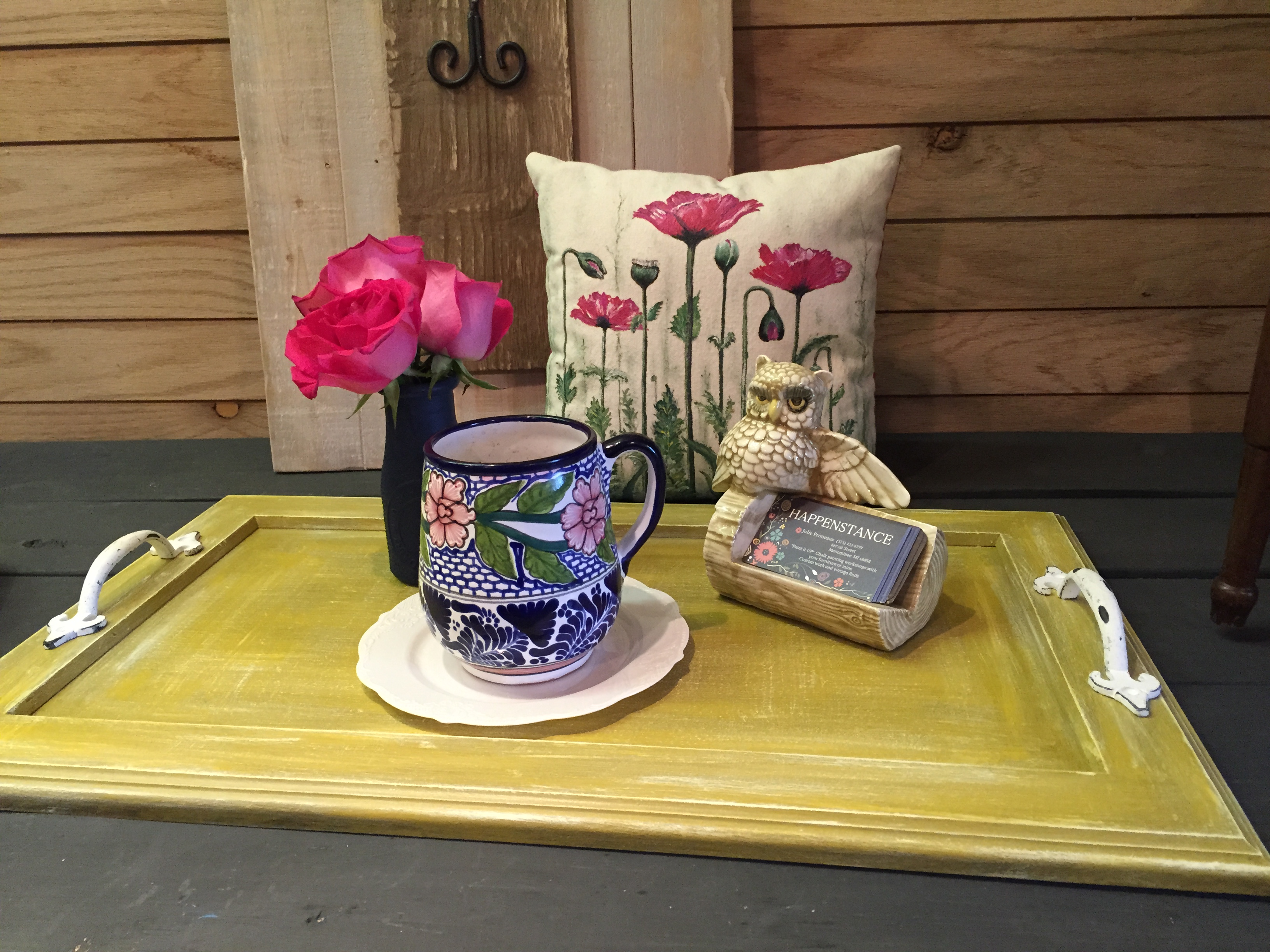 Paint it UP! Chalk Paint and Decoupage Vintage Tray Class
