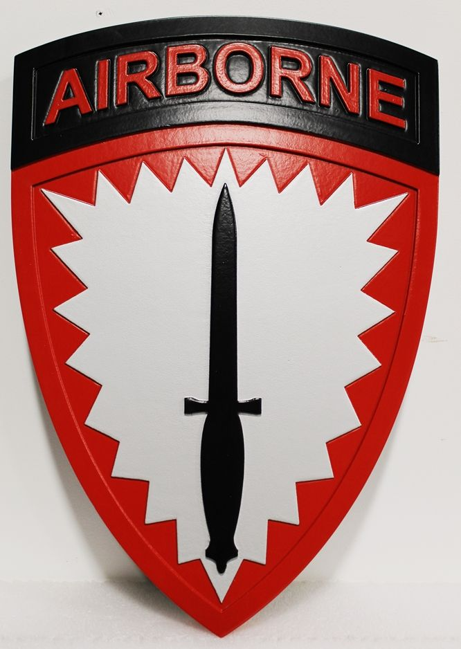 MP-1890 - Carved HDU Wall Plaque of the Insignia of an Airborne Unit,  US  Army
