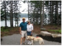 This is a picture of the owners and their dog Owen