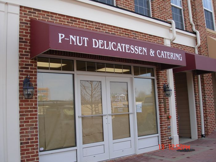P-Nut Catering Storefront Sign