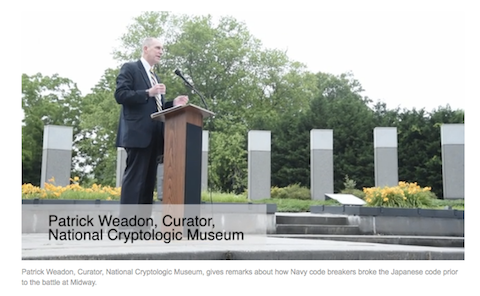 Patrick Weadon at Battle of Midway Ceremony