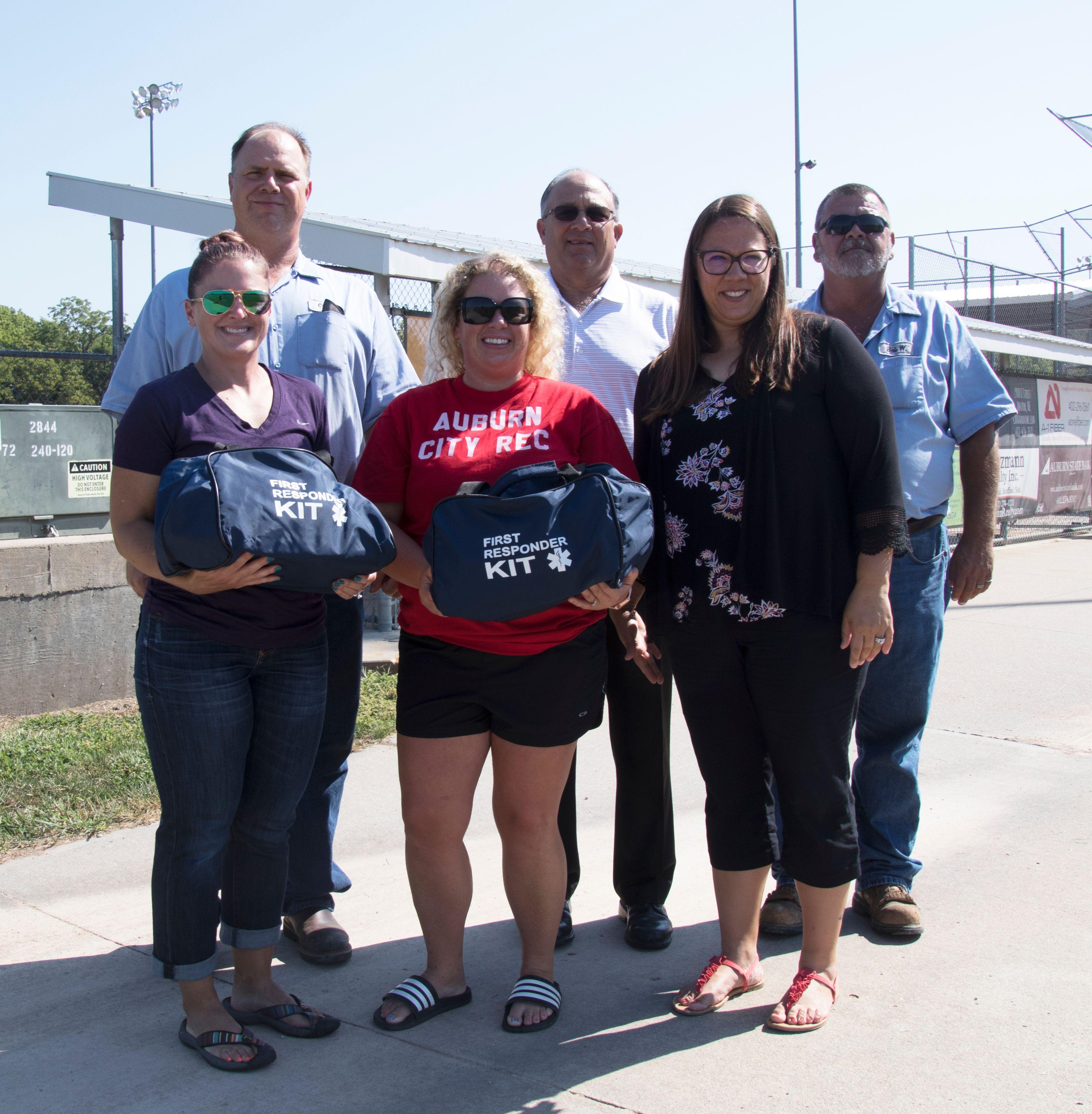 Auburn BPW Donates First Responder Kits to Complex