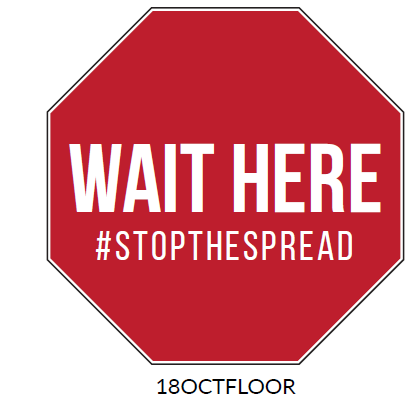Wait Here Floor Graphic