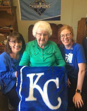 Hospice client at Royals game