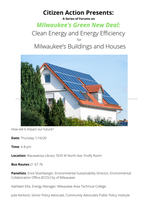 Clean Energy and Efficiency for Milwaukee's Buildings and Houses